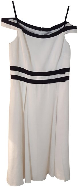 Preload https://img-static.tradesy.com/item/25342166/david-meister-white-and-black-fit-mid-length-workoffice-dress-size-12-l-0-1-650-650.jpg