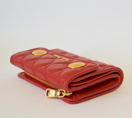 Miu Miu NEW MIU MIU WALLET LEATHER QUILTED WOMENS MADE IN ITALY Image 1