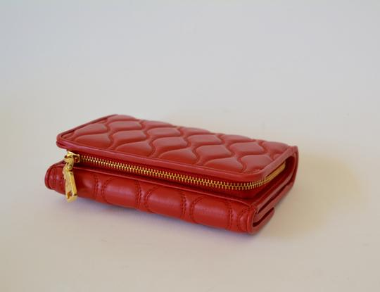 Miu Miu NEW MIU MIU WALLET LEATHER QUILTED WOMENS MADE IN ITALY Image 5