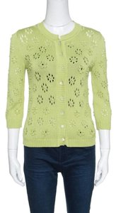 Valentino Perforated Knit Cotton Cardigan