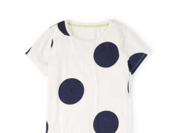 Boden short dress Cream Navy T-shirt Jersey Knit Polka Dot on Tradesy Image 2