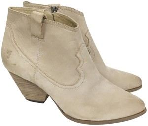Frye Western Leather Pointed Toe Ash Taupe Boots
