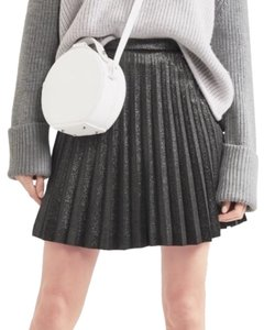J.Crew Pleated Above-knee Mini Silk Skirt Grey