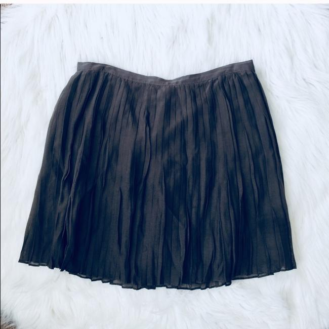 J.Crew Pleated Above-knee Mini Silk Skirt Grey Image 1