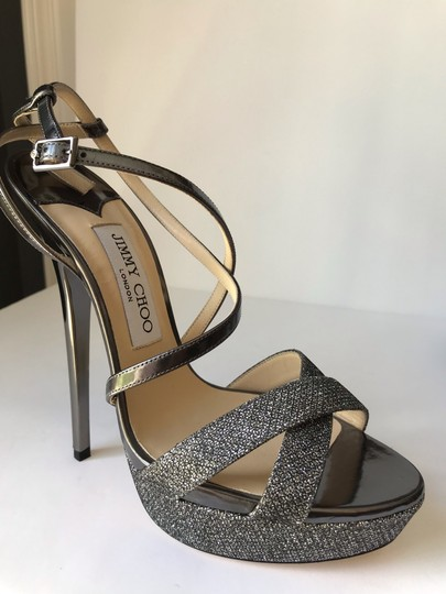 Jimmy Choo Anthracite Sandals Image 10
