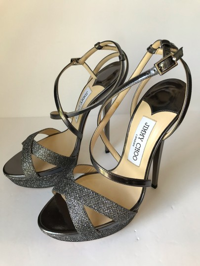 Jimmy Choo Anthracite Sandals Image 11