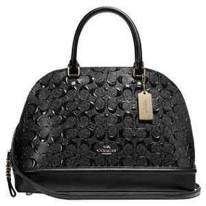 Coach Mini Sierra Blush Sierra Satchel in Black