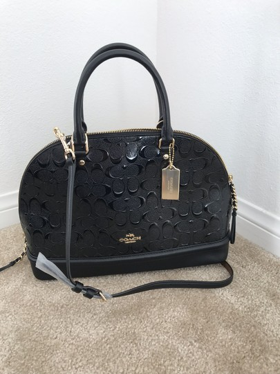 Coach Mini Sierra Blush Sierra Satchel in Black Image 1