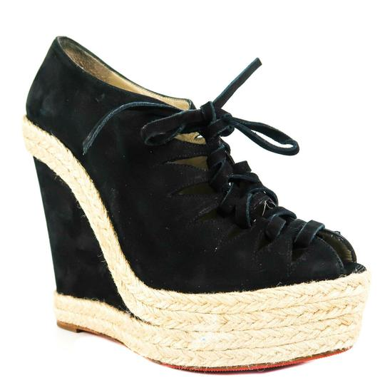 Preload https://img-static.tradesy.com/item/25342454/christian-louboutin-black-espadrille-suede-open-toe-lace-up-heel-6-wedges-size-eu-36-approx-us-6-reg-0-0-540-540.jpg