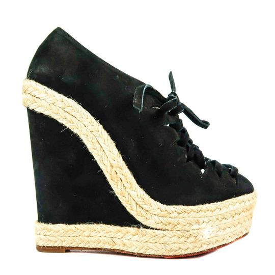Christian Louboutin Black Wedges Image 1