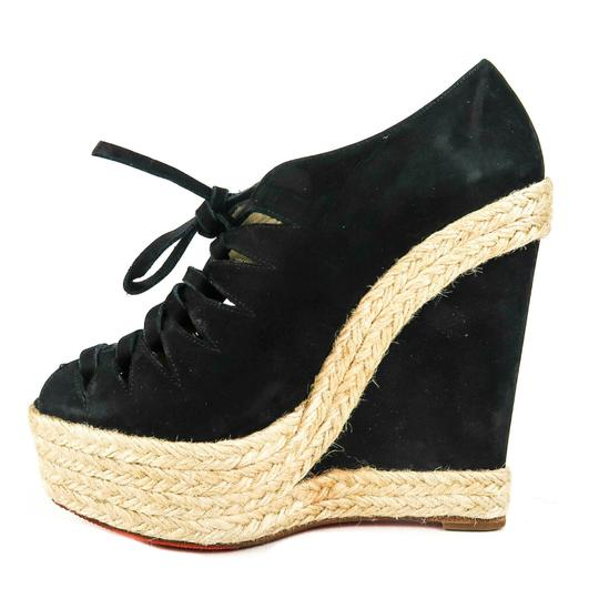 Christian Louboutin Black Wedges Image 10