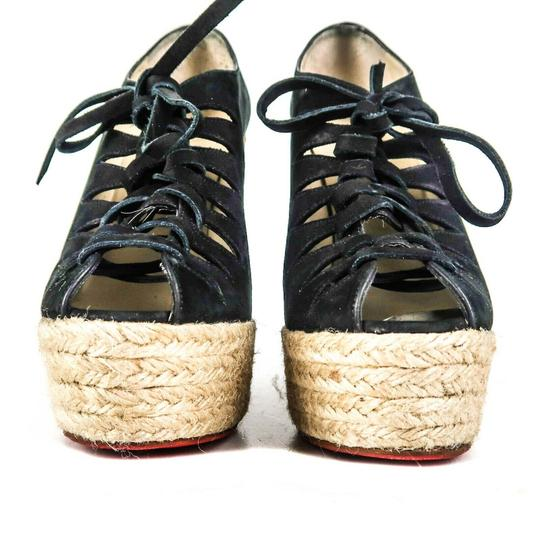 Christian Louboutin Black Wedges Image 5