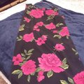Black with red roses Maxi Dress by Premier International Image 2