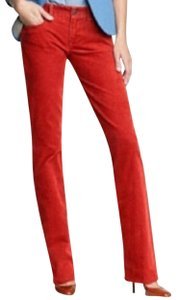 J.Crew City Fit Corduroy Straight Pants Red