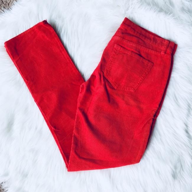 J.Crew City Fit Corduroy Straight Pants Red Image 1