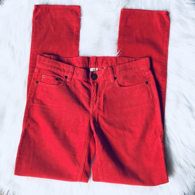 J.Crew City Fit Corduroy Straight Pants Red Image 2