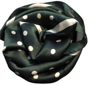 Other Ladies Small Silk Army Green Polka Dots Neck Scarf
