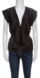 Stella McCartney Satin Detail Polyester Sleeveless Top Black