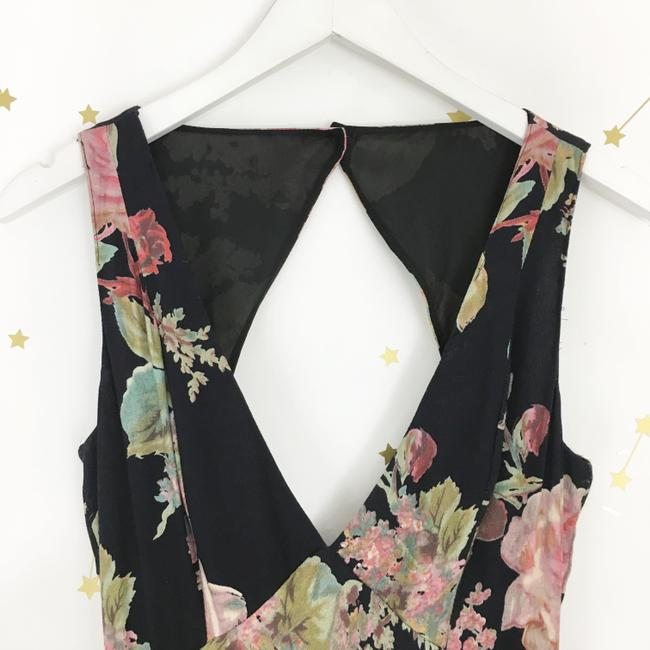 Black Maxi Dress by Privacy Please Floral Maxi Cut-out Image 1
