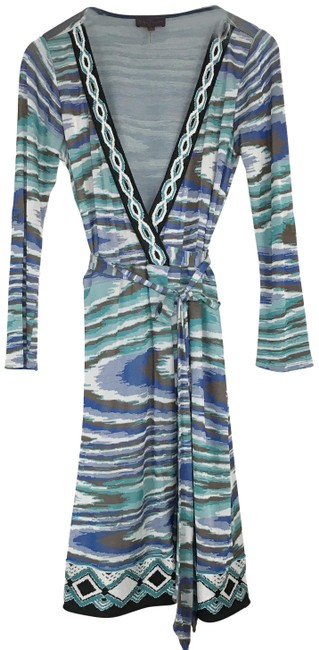 Preload https://img-static.tradesy.com/item/25342623/hale-bob-blue-green-abstract-printed-wrap-mid-length-short-casual-dress-size-6-s-0-1-650-650.jpg