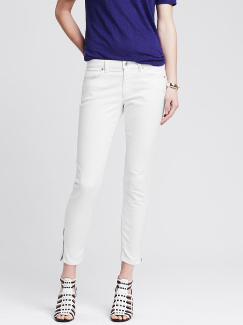 Banana Republic Mid Rise Crop Zippered Skinny Jeans Image 1