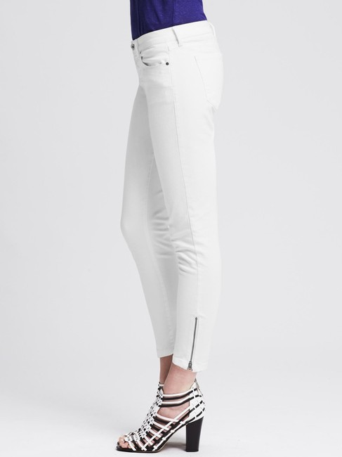 Banana Republic Mid Rise Crop Zippered Skinny Jeans Image 2