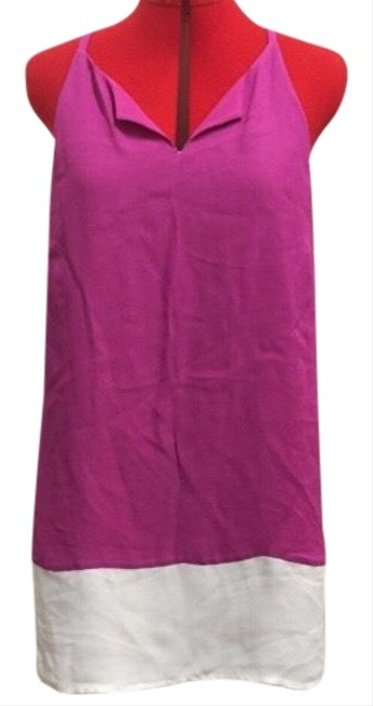 Preload https://img-static.tradesy.com/item/25342662/annie-griffin-pink-colorblock-racerback-short-casual-dress-size-12-l-0-1-650-650.jpg