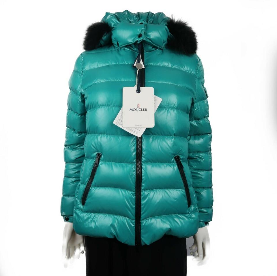 28dcef40c Moncler Teal Green New Badyfur Fur Hood Down Puffer Jacket Women's Medium  Coat Size 2 (XS) 56% off retail