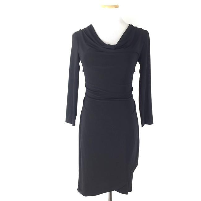 Item - Black Lucy 3/4 Sleeves Cowl Short Casual Dress Size 0 (XS)