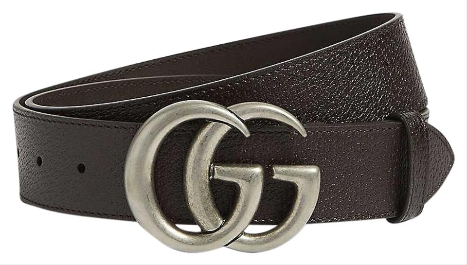 ac9166bb2 Gucci size 32 GG logo leather and suede belt 4 cm wide Image 0 ...