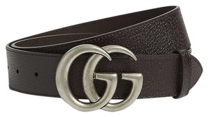 Gucci size 34 GG logo leather and suede belt 4 cm wide
