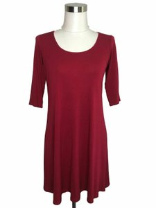 EILEEN FISHER short dress Raspberry on Tradesy