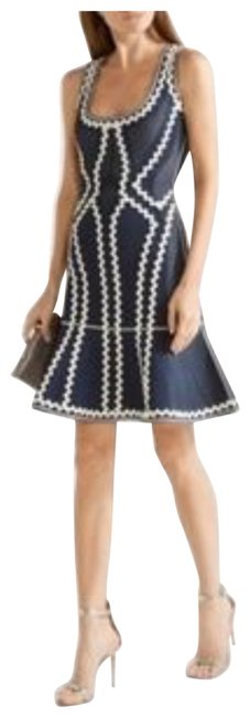 Item - Blue and White Flowy Sexy Short Cocktail Dress Size 4 (S)