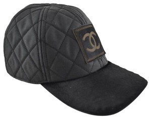 Chanel Chanel 06A Casquette Quilted CC Logo Pony Hair Fur Baseball Cap Hat M