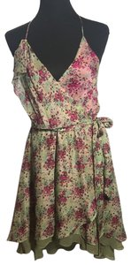 Alexia Admor short dress Floral Print with greens and pinks. on Tradesy