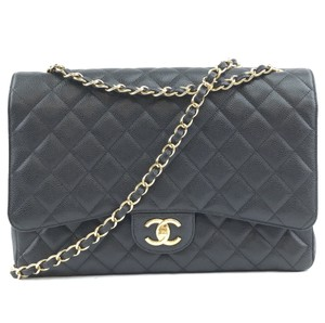Chanel Caviar Double Flap Maxi Shoulder Bag