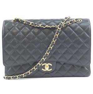 Chanel Caviar Double Flap Maxi Shoulder Bag - item med img
