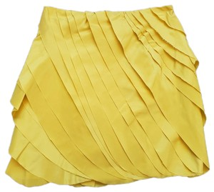 Adam Lippes Mini Skirt Yellow