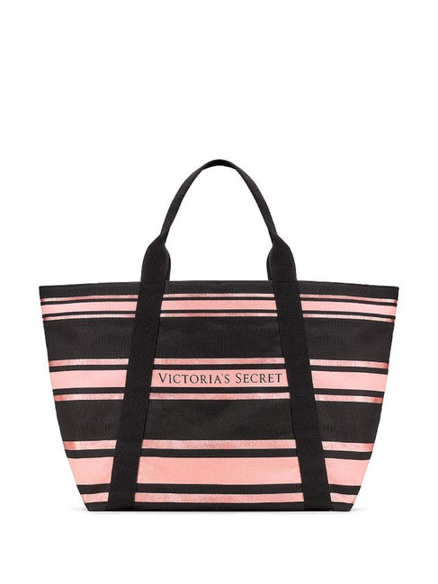 Item - Sequined Black Pink Canvas Tote