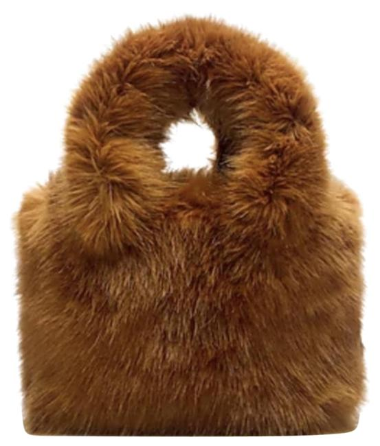 Item - Mini In Faux-shearling H3878 Gold Acrylic Tote