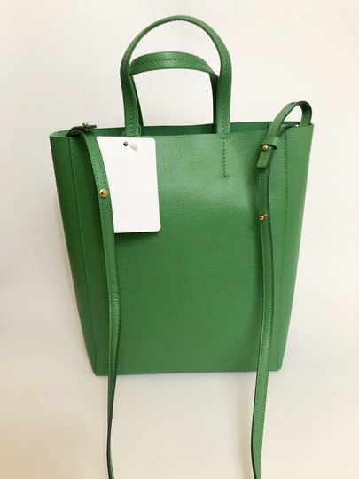 Céline Small Veritcal Cabas Tote in Green Image 1