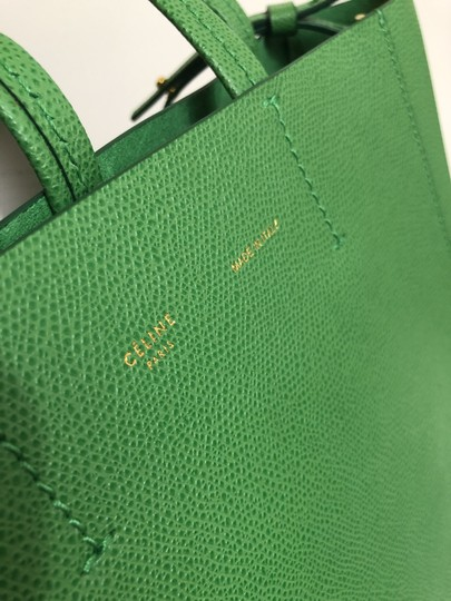 Céline Small Veritcal Cabas Tote in Green Image 7