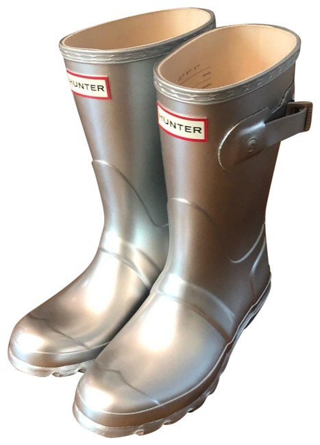 Item - Silver Box New Without Classic Short Rain Boots/Booties Size US 6 Regular (M, B)