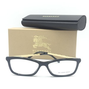 Burberry Rectangular Black Gold Eyeglasses B2190 F 3001