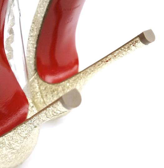 Christian Louboutin Leather Gold Clear Pumps Image 9
