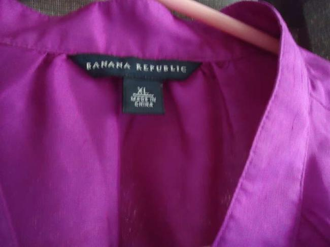 Banana Republic Silk Summer Top Magenta/Fuschia