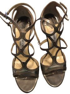 Jimmy Choo mirror leather steel Sandals