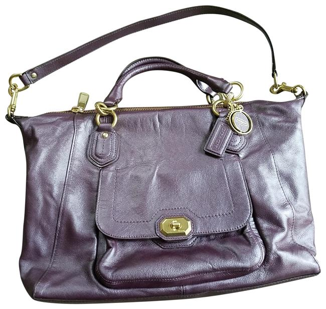 Item - Campbell Carry-all Plum Leather Satchel