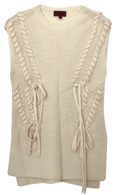 Preload https://img-static.tradesy.com/item/25344797/intermix-sleeveless-cable-cream-sweater-0-1-650-650.jpg