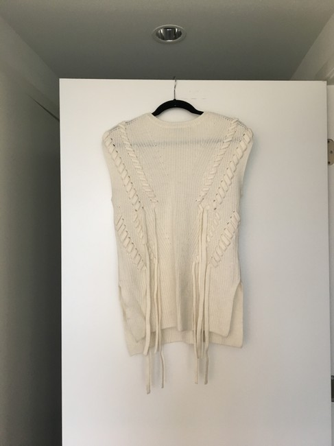 INTERMIX Bow Detail Cable Knit Sleeveless Sweater Image 1